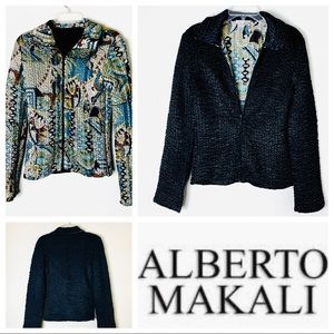 EUC ALBERTO MAKALI Reversible Black JACKET Blazer